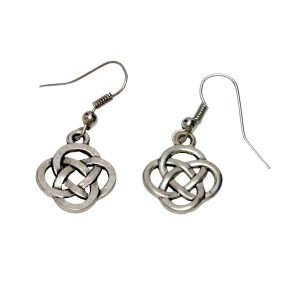 Round knotwork earrings 930