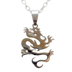 STEEL DRAGON PENDANT NECKLACE 1499