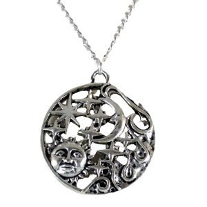 Sun moon stars necklace 1656-