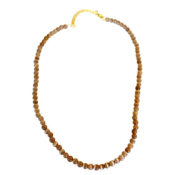 Gold catseye glass necklace 1970-