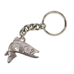jumping brown trout keychain 1987K