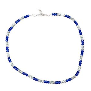 Blue and chrome necklace 1101